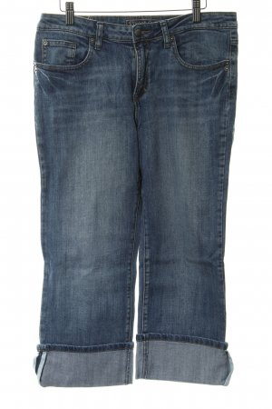 Street One 3/4 Jeans dunkelblau Used-Optik