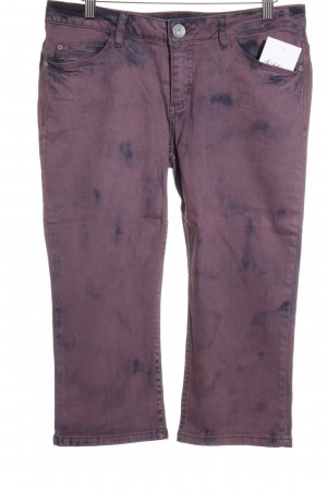 Street One 3/4 Jeans lila-graulila Farbverlauf Casual-Look