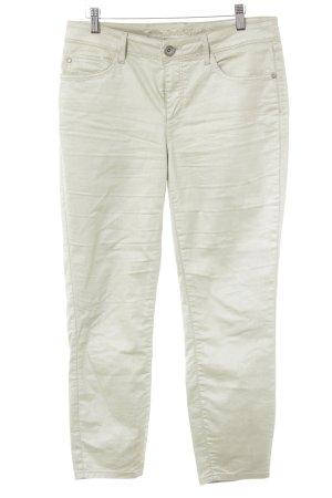 Street One Jeans a 7/8 verde pallido con glitter