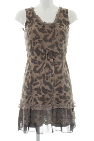 Street One A-Linien Kleid beige-graubraun Animalmuster Animal-Look