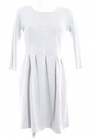 Street One A-Linien Kleid hellgrau-khaki grafisches Muster Business-Look