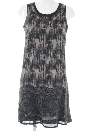 Street One A-Linien Kleid schwarz-grau abstrakter Druck Casual-Look