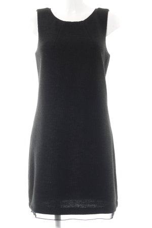 Street One A-Linien Kleid schwarz Webmuster Casual-Look