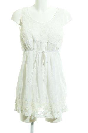 Street One A-Linien Kleid weiß florales Muster Romantik-Look