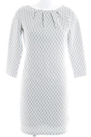 Street One A-Linien Kleid weiß-hellgrün grafisches Muster Casual-Look
