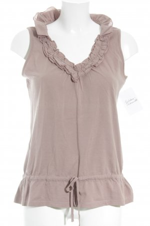 Street One Sleeveless Blouse rose-gold-coloured casual look