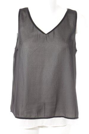 Street One ärmellose Bluse schwarz-weiß Elegant