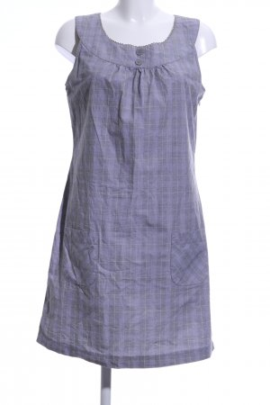 Street One Babydoll Dress lilac-light grey check pattern casual look