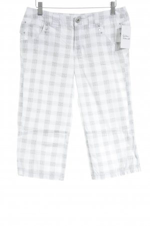 Street One Bermudas white-olive green check pattern casual look