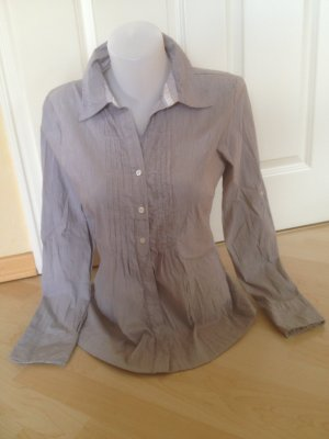 Street One Bluse Model Berit Gr 40 Taupe / Weiß