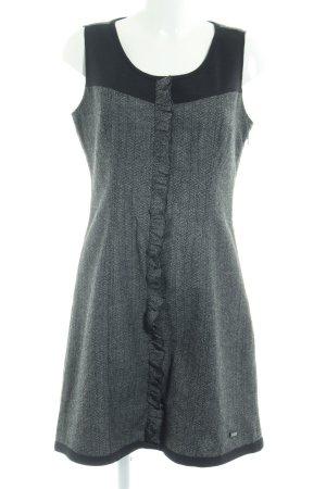 Street One Blusenkleid schwarz-grau abstraktes Muster Business-Look
