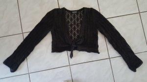 Street One Boléro en tricot brun foncé laine mérinos