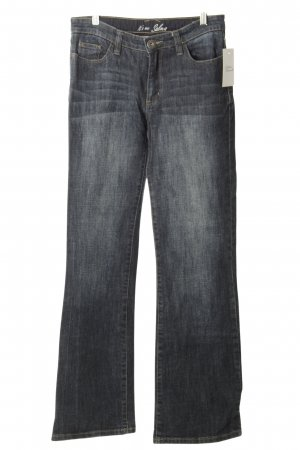 Street One Boot Cut Jeans dunkelblau-wollweiß Washed-Optik