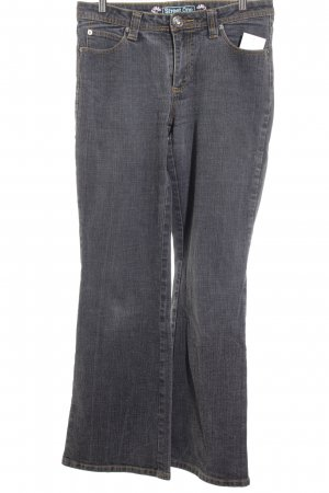 Street One Boot Cut Jeans grau Casual-Look