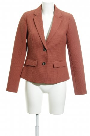 Street One Boyfriend Blazer dark orange weave pattern business style