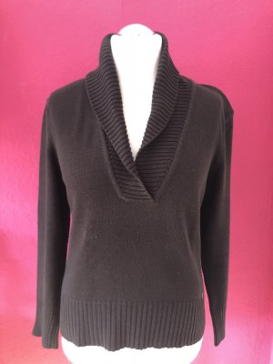Street One V-Neck Sweater dark brown