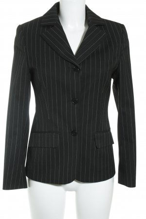 Street One Business Suit black-white pinstripe business style