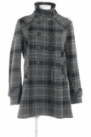 Street One Heavy Pea Coat check pattern casual look