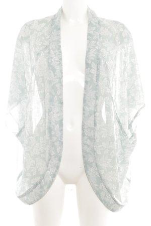 Street One Cardigan blassblau-weiß florales Muster Casual-Look