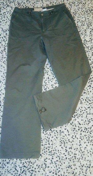 Street One Pantalón de camuflaje caqui-verde Algodón