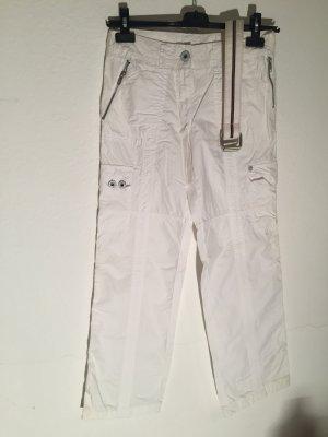 Street One Pantalon cargo blanc coton