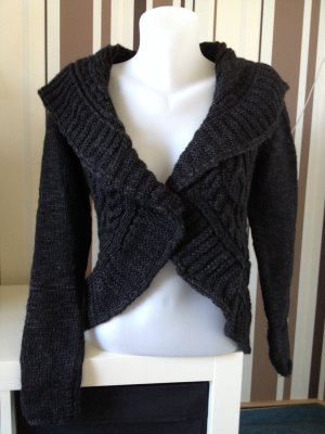 Street One - Cecil Strick Cardigan Bolero Gr 40 in Grau