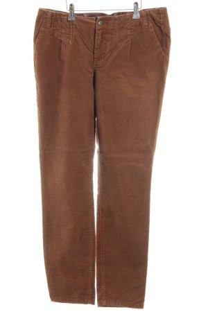 Street One Pantalone di velluto a coste marrone stile casual