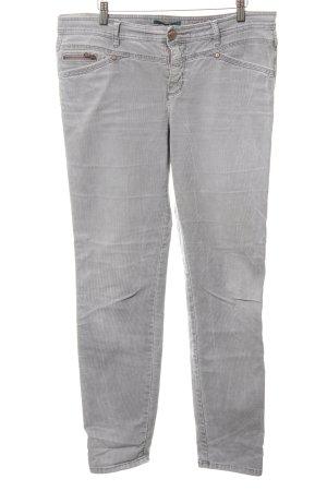Street One Pantalón de pana gris claro look casual