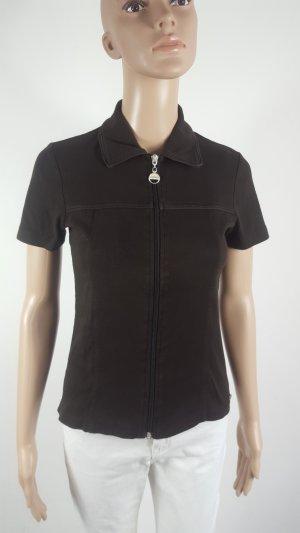 Street One Damen Sweatjacke kurzarm Blusenjacke braun Größe 36