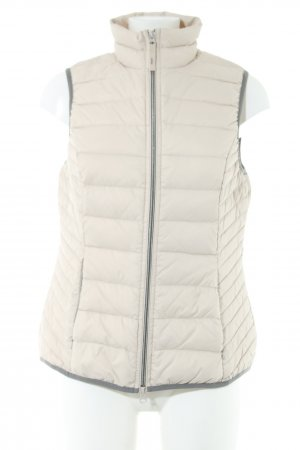 Street One Down Vest natural white-light grey quilting pattern casual look