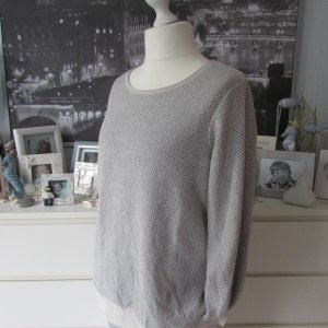 Street One * Edler Lurex Layer Pullover * hellgrau-beige * 44 TOP