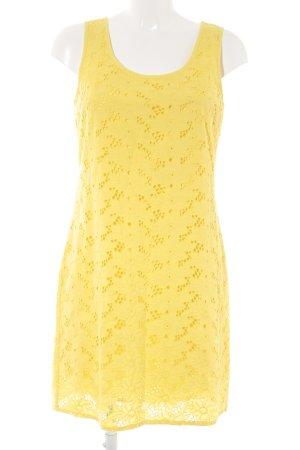 Street One Etuikleid gelb florales Muster Casual-Look