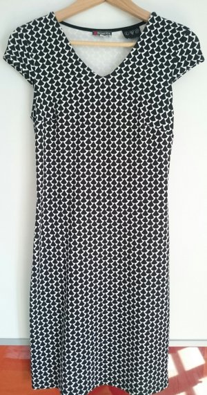 Street One Etuikleid, schwarz/weiß, Gr. 36 - Preisnachlass