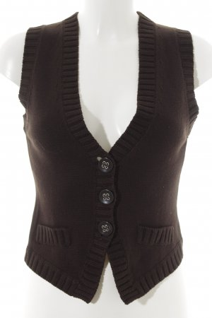 Street One Fine Knitted Cardigan dark brown casual look