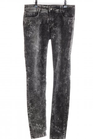Street One Five-Pocket Trousers light grey-black allover print casual look