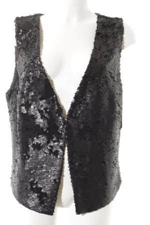 Street One Fringed Vest dark grey-black extravagant style