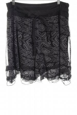 Street One Flared Skirt black abstract pattern simple style