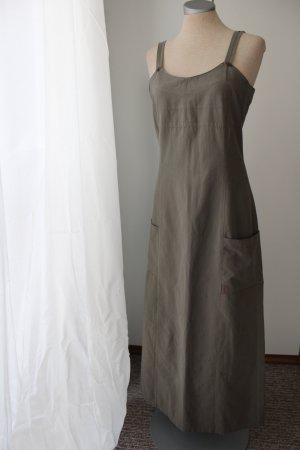 Street One Gr. 38 S M olivgrün khaki Trägerkleid Maxikleid Midikleid knöchellang Sommerkleid