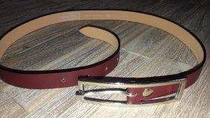 Street One Cintura in ecopelle bordeaux-rosso mora