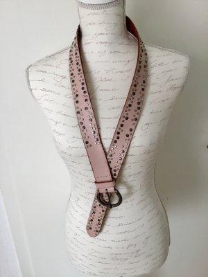 Street One Cinturón de pinchos rosa-color plata Cuero