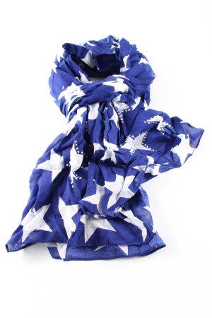 Street One Fazzoletto da collo blu-bianco stampa integrale stile casual
