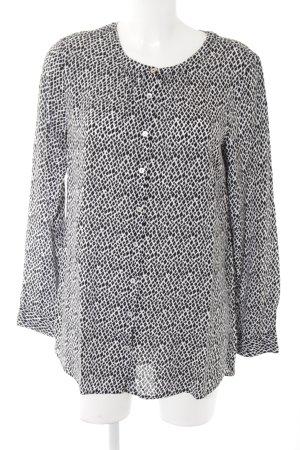 Street One Hemd-Bluse weiß-schwarz abstraktes Muster Casual-Look