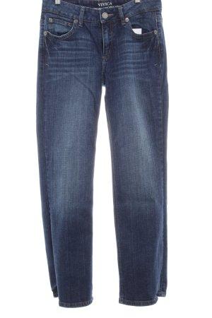 Street One High Waist Jeans dunkelblau meliert Casual-Look