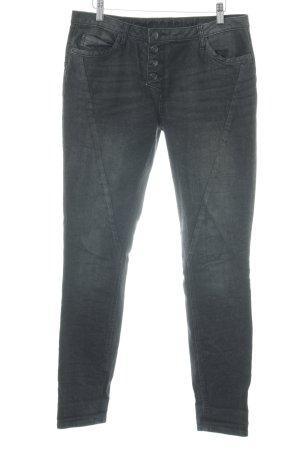 Street One Jeans taille haute noir moucheté style décontracté