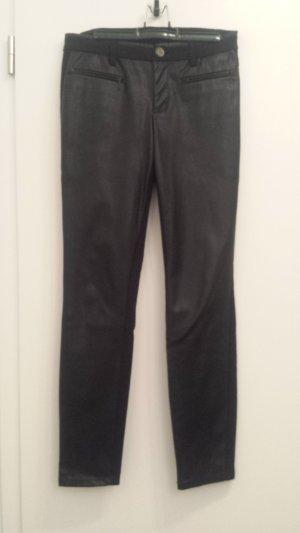 Street One Hose mit Kunstleder-Einsatz Gr. 36, schwarz