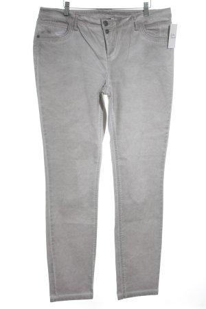 Street One pantalón de cintura baja gris claro look casual