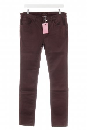 Street One Low-Rise Trousers brown violet casual look