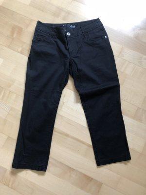 Street One, Jeans, 3/4, schwarz
