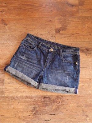 Street One Pantalón corto de tela vaquera azul-azul oscuro