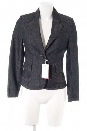 Street One Denim Blazer dark blue flecked '90s style